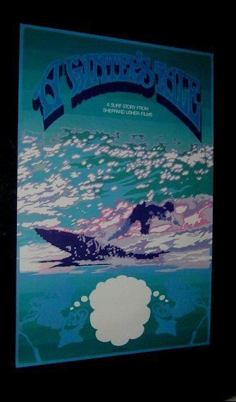 Original 1975 Australian Surfing Movie Theatre Poster WINTER S TALE A SURF STORY