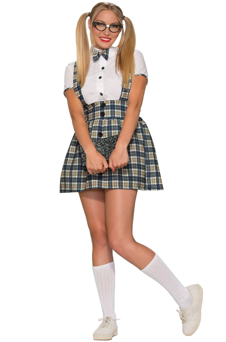 Check out the deal on 50's Nerd Girl Adult Costume (M/L) - FREE SHIPPING at PureCostumes.com