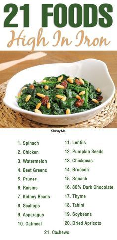 These 21 Foods High in Iron help keep you energized!