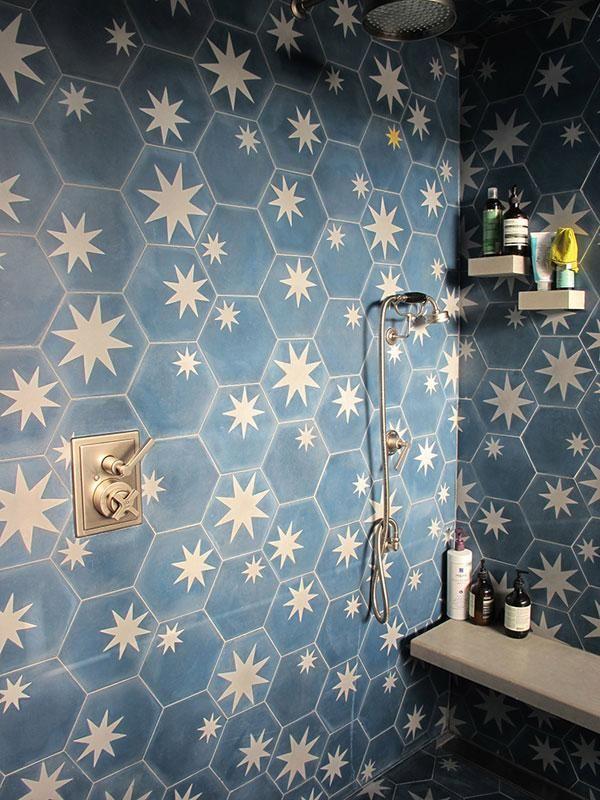 Starry tiles.