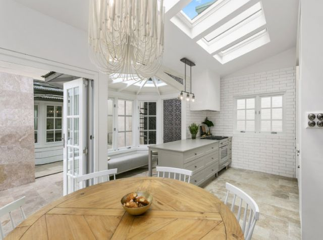 Modern white kitchens, dining rooms, and lounges~ Darren Palmer's own home is open for inspection and for sale - The Interiors Addict