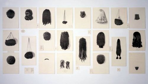 """My next project for Publication Design is a """"collection"""". What I wouldn't give for a bunch of wigs right now..."""