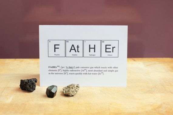 FUNNY FATHER ELEMENTS Card. Periodic Table Fathers Day ...