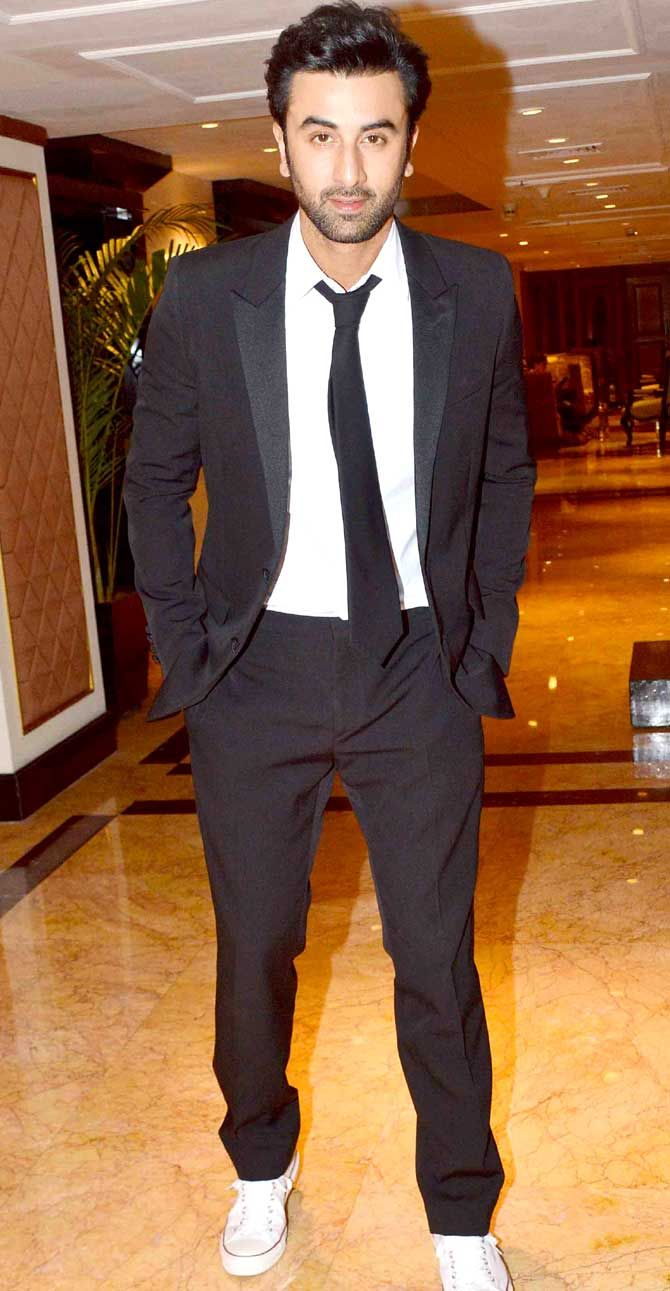 Ranbir Kapoor at the second trailer launch of their film 'Bombay Velvet'. #Bollywood #Fashion #Style #Handsome