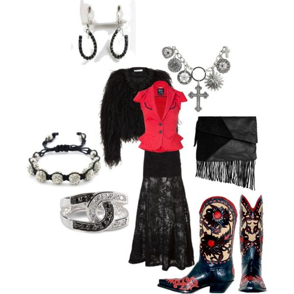 Red Hot Cowgirl, created by cowgirlicing on Polyvore.