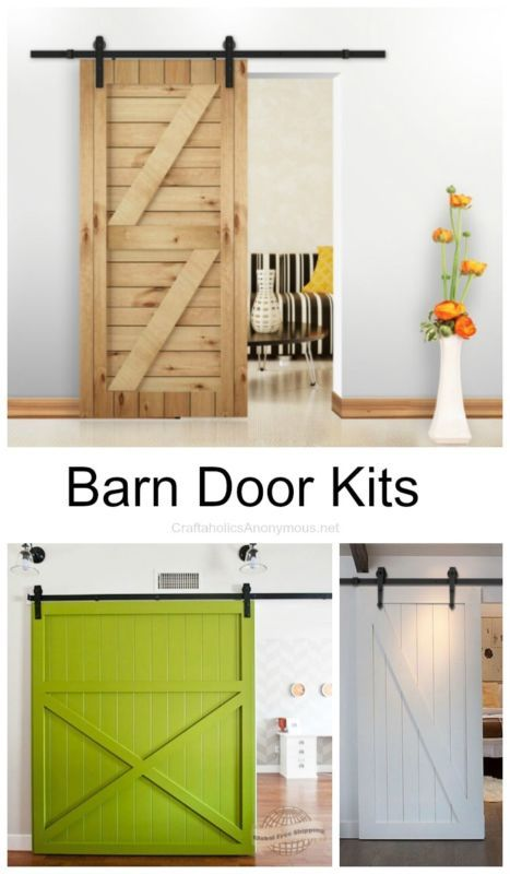 DIY Barn Door kits you will love. I would love to have one of these in my house!