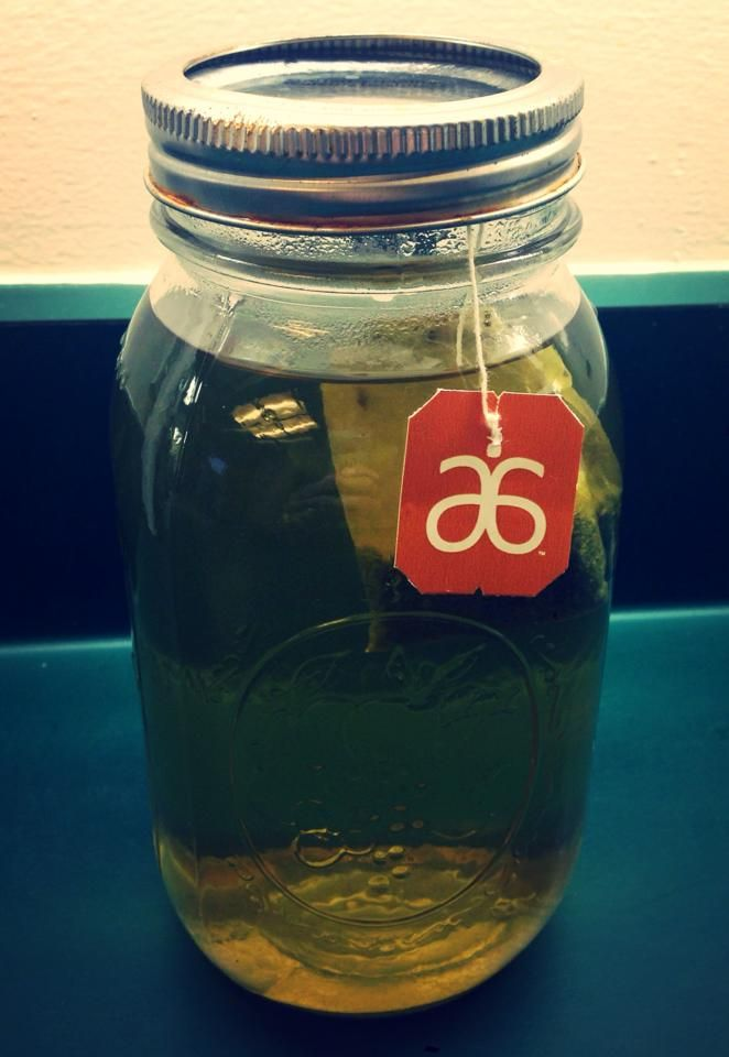 #Arbonne #Detox #tea: using a large 30oz #mason-jar, let sit all day to cool and you will get 2 servings from one bag. Chill in the fridge overnight. Next morning add orange fizz stick and digestive support. Tastes a lot like OJ! You'll start your morning with abounding energy!