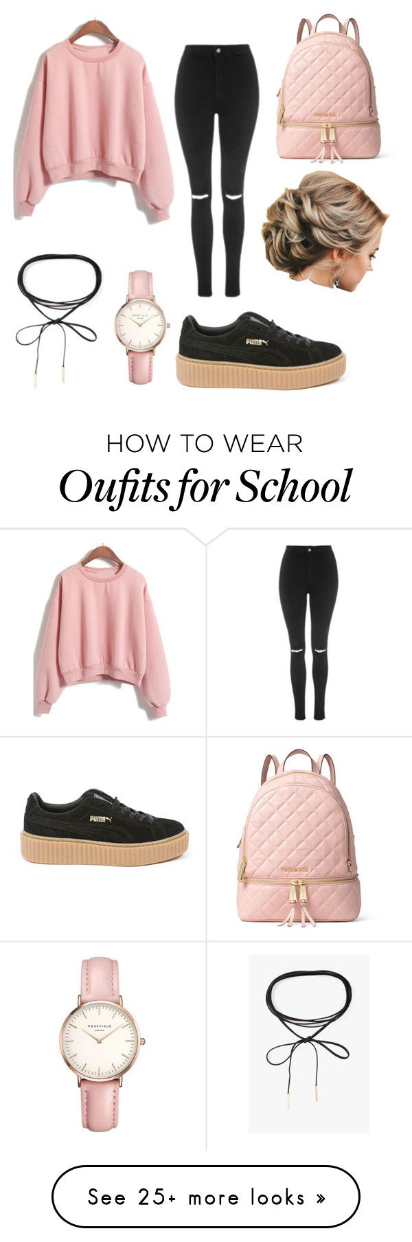 """School"" by nastilife on Polyvore featuring Topshop, Azalea, Puma and MICHAEL Michael Kors"