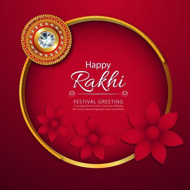Floral Rakhi With Creative Background Rakhi Raksha Bandhan Greetings Creative Background