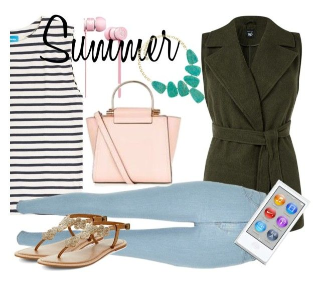 """""""Marine Layer: Striped Shirts"""" by crystal-imz on Polyvore featuring New Look, M.i.h Jeans, River Island, Kendra Scott, GetTheLook, StreetStyle, trends, stripedshirt and Fleeky"""