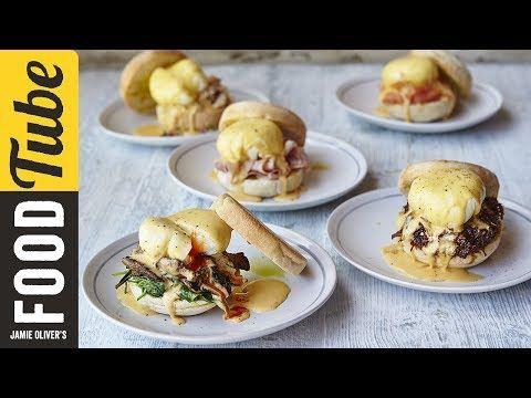 Eggs Benedict with Hollandaise Sauce 5 Ways (Smoked Salmon + Ham + Spinach & Mushroom + Lemon Pepper Crab + Barbacoa) - Jamie Oliver