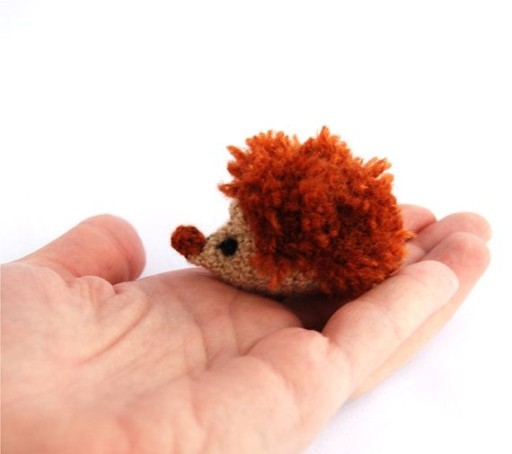 $31.36 tiny hedgehog, miniature hedgehog, rust pined #hedgehog, little amigurumi hedgehog, #crocheted hedgehog, little stuffed animal, beige rust, #bestbuy by crochAndi