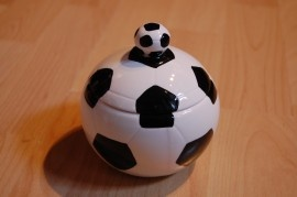 voetbal pot met deksel | kado, geschenken, toppers | presentshop