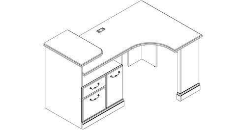 1000 images about home kitchen home office furniture on pinterest computer desks work - Bush desk assembly instructions ...