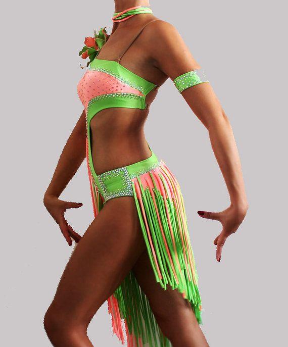 Dance costume for competition, latin ballroom dress, show dance, samba, rumba, cha cha, dress for performance