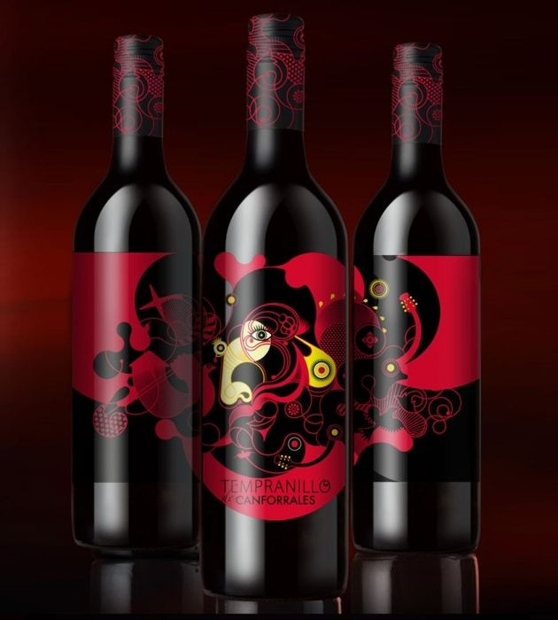 Label design for the brand Canforrales Tempranillo, Campos Reales Winery
