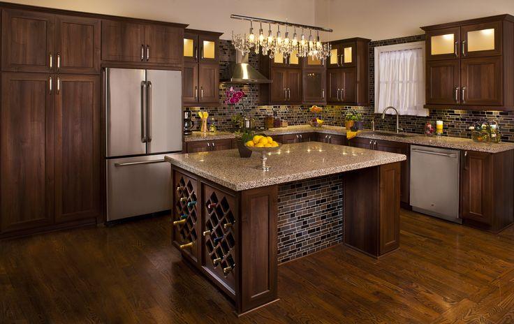 Atlanta kitchen remodel by granite transformations featuring counter top and back splash - Kitchen remodel atlanta ...