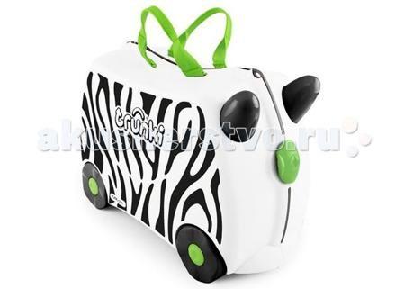 Trunki Детская каталка-чемодан Zebrа Zimba Зебра Зимба  — 4720р.   Trunki Zebra Zimba – новинка в серии детских чемоданов Trunki. Это белоснежный чемоданчик с принтом - полоски как у зебры. Чемодан-каталка Trunki Zimba для настоящих путешественников и ценителей дикой природы! Zebra Zimba - верный друг и спутник ребенка в любой поездке и путешествии.   Особенности чемодана:  Перевозка и хранения игрушек и багажа; Веселое катание на чемоданчике; Отдых ребенка, когда родители просто катают его…