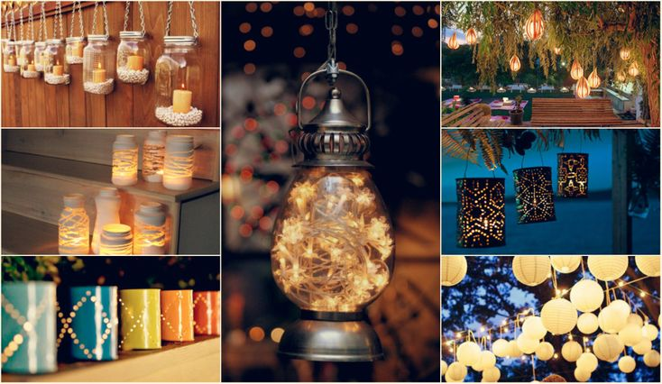 If you are planning a home garden party, here are some DIY lighting ideas. Looks great!