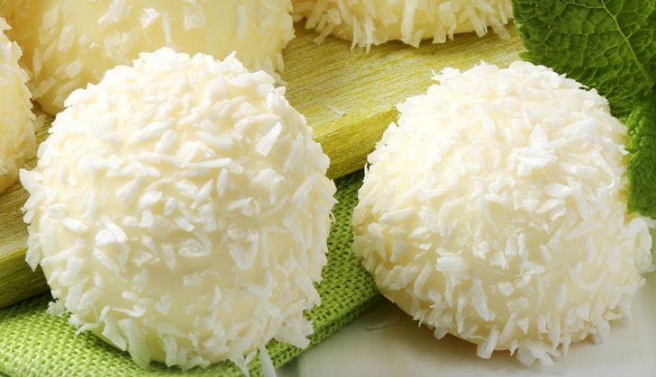 Bombones de coco apto para diabéticos e ideales para darse un gustito