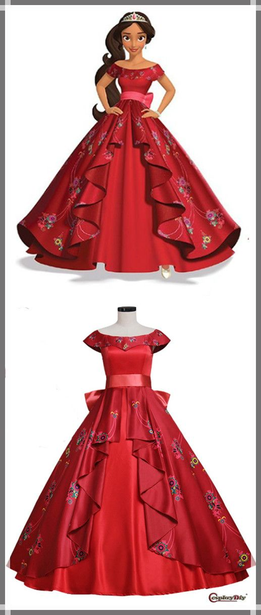 CosplayDiy Women's New Arrival Elena of Avalor Elena Dress Cosplay For Halloween