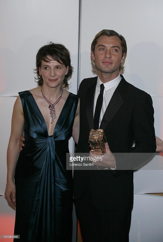 Juliette Binoche and Jude Law during 32nd Cesar Awards Ceremony - Press Room at Theatre du Chatelet in Paris, France.