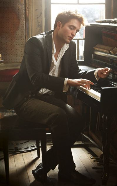 Robsten Dreams: Rob Pic of the Day ~ Sexy piano man. -- Vanity Fair, April 2011