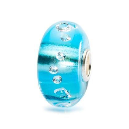 Diamond bead, ice blue