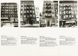 Hans Haacke 'Shapolsky et al. Manhattan Real Estate Holdings, a Real-Time Social System, as of May 1st, 1971' (detalle), 1971