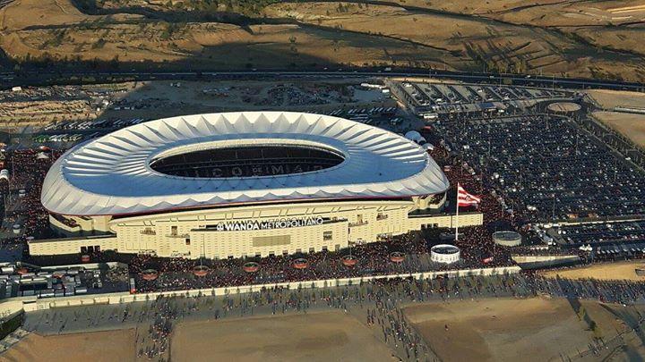 Espectacular imagen aérea del nuevo estadio Wanda Metropolitano