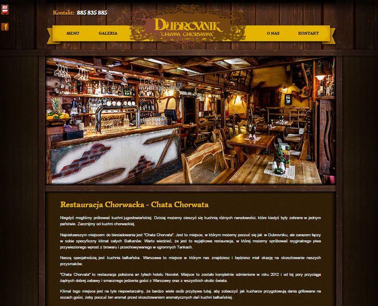 Strona internetowa, wykonana dla Restauracji Dubrovnik zlokalizowanej w centrum Warszawy.    http://dubrovnik.waw.pl