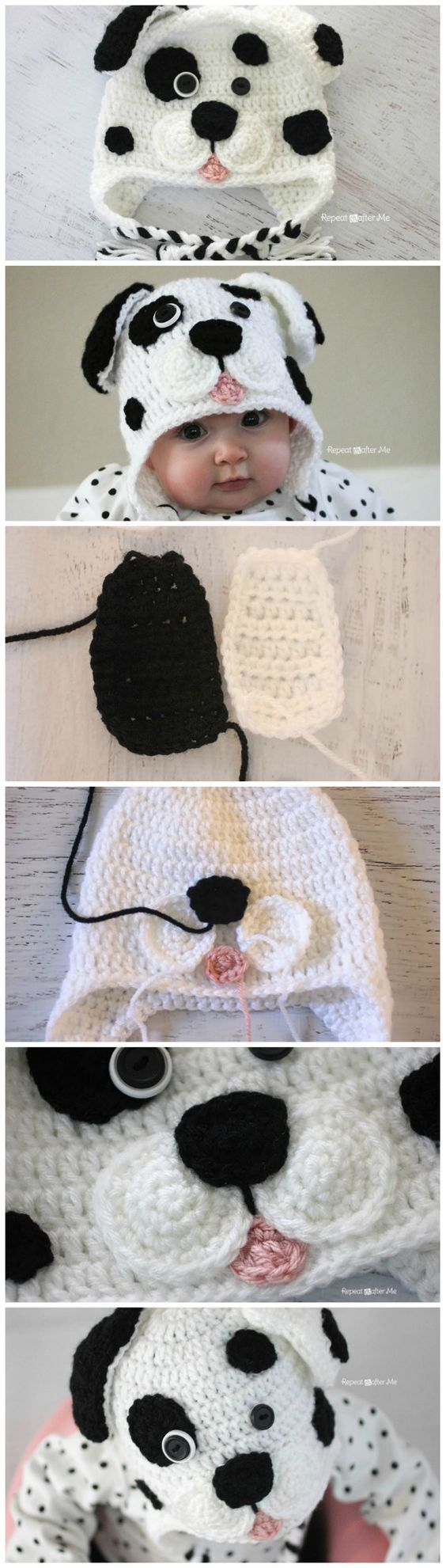 DIY Crochet Dalmatian Dog Baby Hat – Free Pattern: