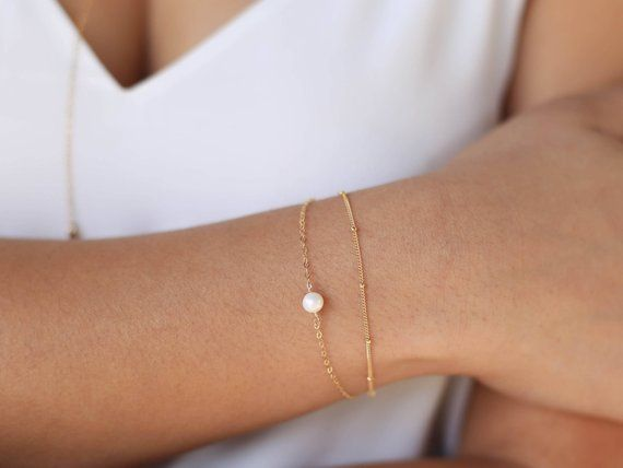 Bracelets Bridesmaid Gift 14k Everyday Bracelet Chain Bracelet Women Gift 14k Gold Filled Bracelet with Stones Opal Bracelet
