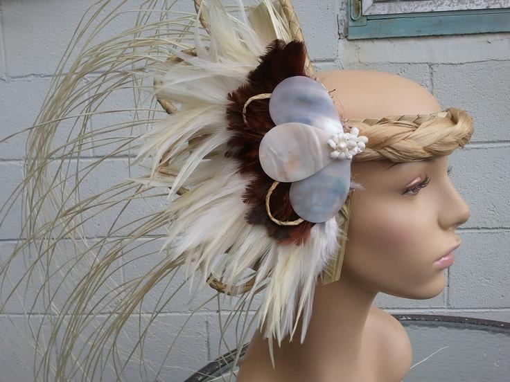 Tahitian Costume Side Head Piece