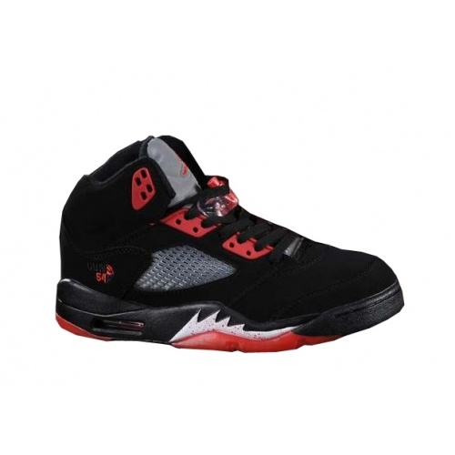 Nike Air Jordans 5(V) Black Red Grey