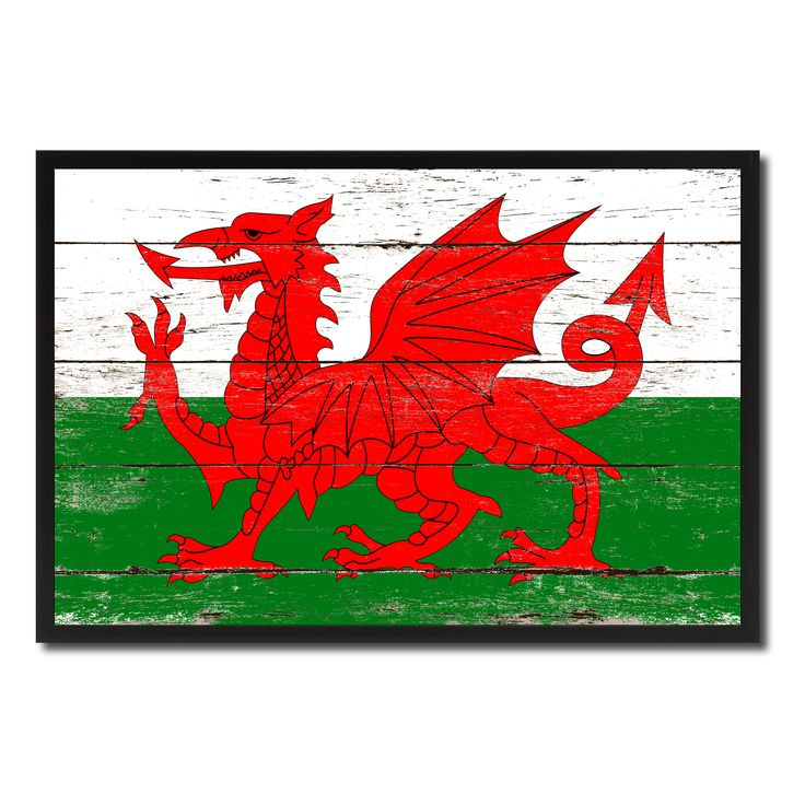 Wales Country National Flag Vintage Canvas Print with Picture Frame Home Decor Wall Art Collection Gift Ideas
