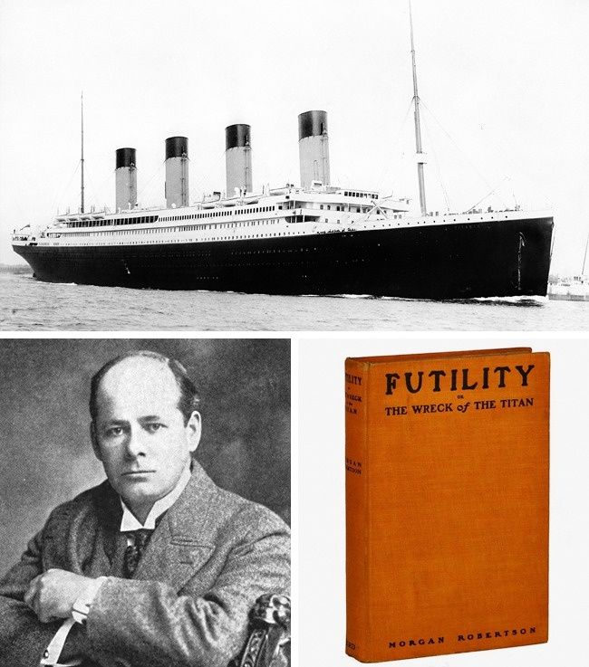In 1898, 14 years before the sinking of the Titanic, fantasy writer Morgan Robertson wrote the novella Futility, which told the story of a ship that was sunk — and which bore the name The Titan. But it wasn't just the name where we can see an eerie coincidence. Both the fictional and real ship were described as unsinkable, had similar technical characteristics, lacked a suitable number of lifeboats, and collided with icebergs in the North Atlantic.