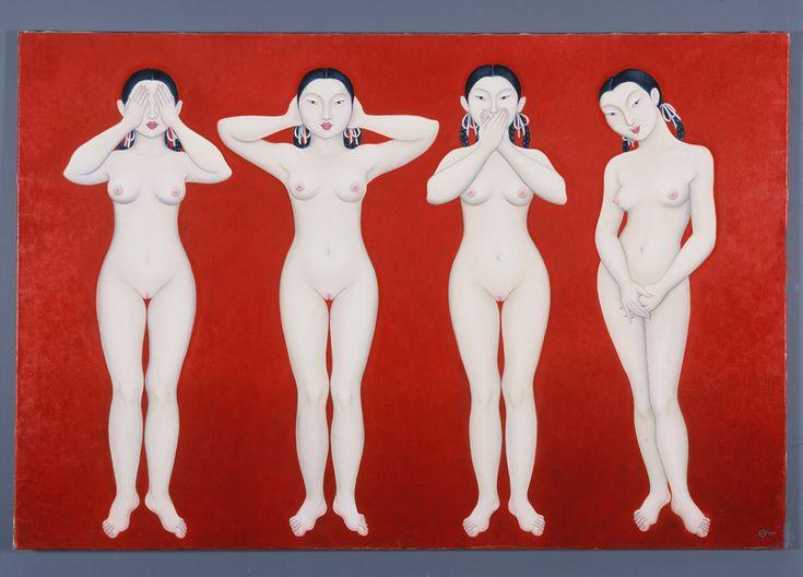 Sweet asian twin nudes