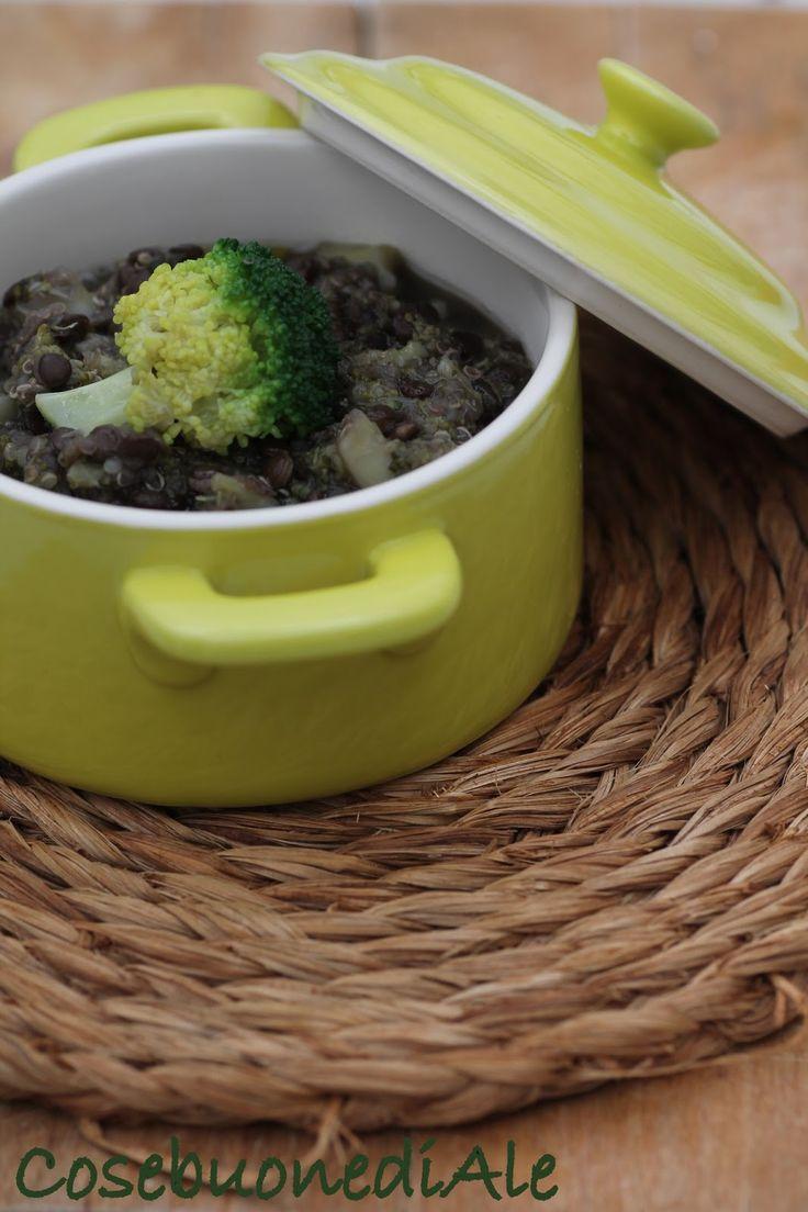 CosebuonediAle: Brutta ma buona: zuppa di broccolo, lenticchie nere e quinoa