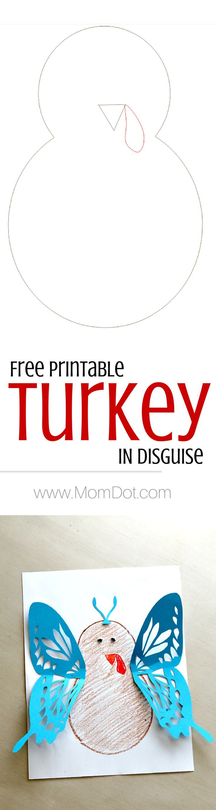 Turkey in Disguise free printable, create your own fun turkey at home in every way BUT a turkey! Thanksgiving fun at its finest for kids. Plus print free over and over again!                                                                                                                                                                                 More