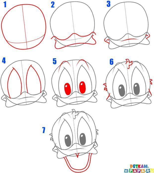 Donald Duck zeichnen lernen Comictiere zeichnen lernen. Zeichnen lernen