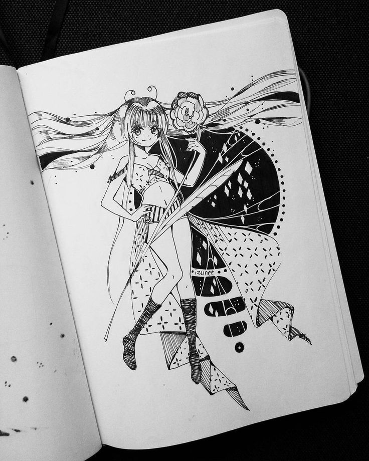 150. For 150th day of the year! As much as I love coloring I have to say that I'm growing fond of ink drawings thanks to this IG account ಥಥ by izunee