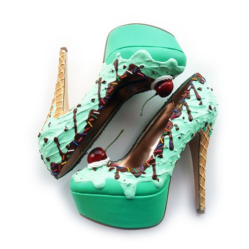 Mint ice-cream shoes by Shoe Bakery. #shoes #icecream