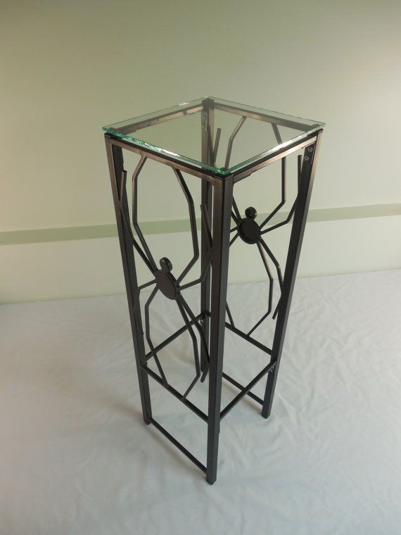 Steel Spider Plant Lamp or Sculpture Stand