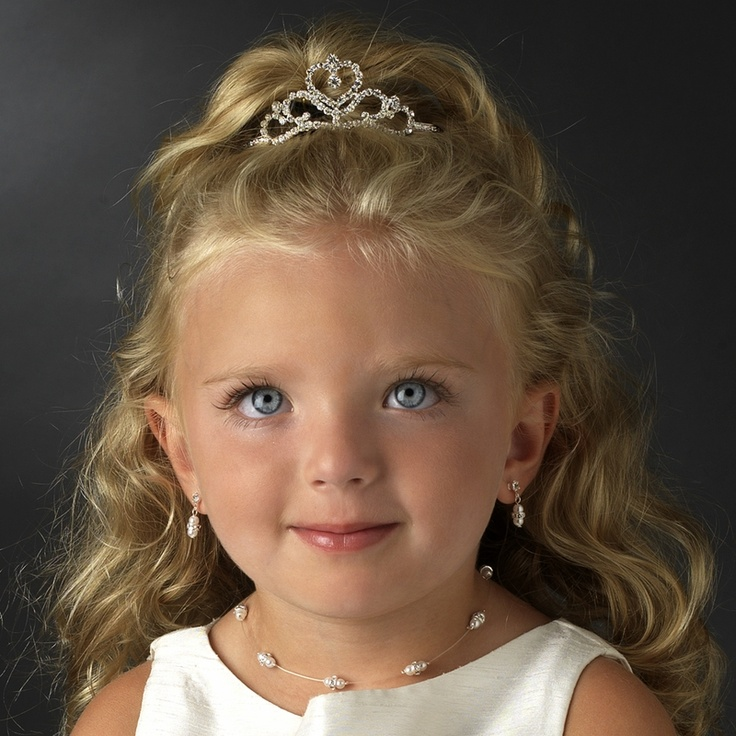 Crowned Heart Flower Girl Tiara