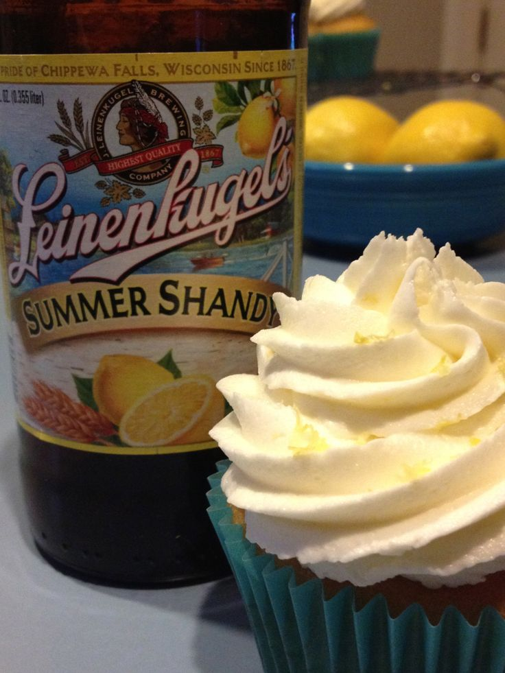 Leinenkugel Cupcakes with Lemon Buttercream Frosting