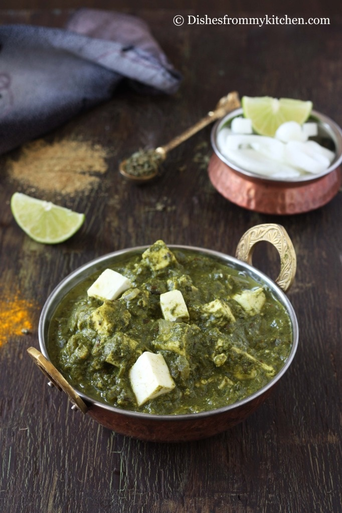 Palak Paneer - Indian Cheese in spinach sauce