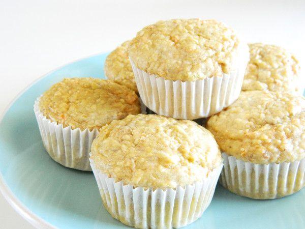 receta para bebés de muffins de manzana y zanahoria