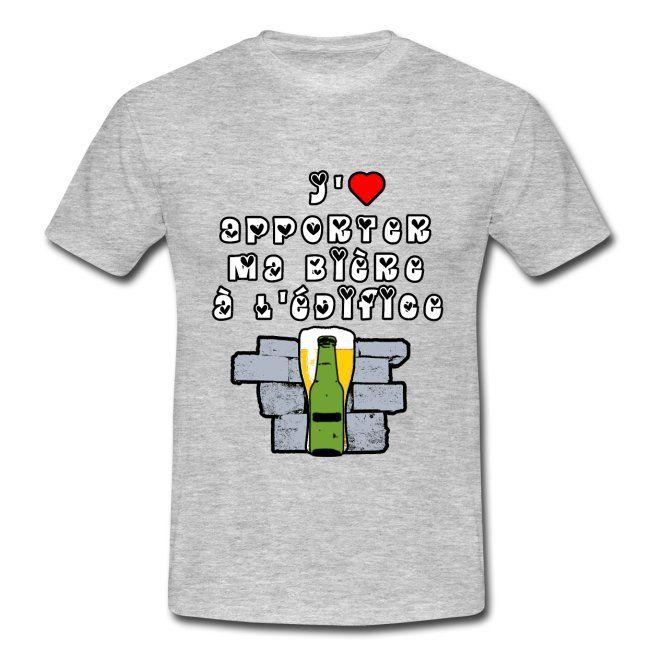 J Aime Apporter Ma Biere A L Edifice Jeux De Mots T Shirt Homme