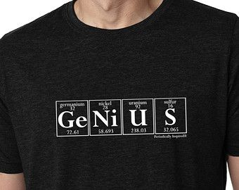 41 best t shirts images on pinterest science tshirts gift and gifts periodic table tee genius mens black t shirt by periodically inspired now featured urtaz Images